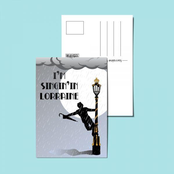Carte Postale I'm singin'in Lorraine